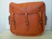 11786-XM  brown Army style saddlebags (pair)