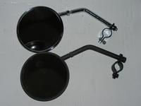 mirror short stem, black, correct for resto,all models  124