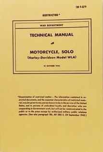 1600543  Maintenance manual 1941 to 1945 WLA models