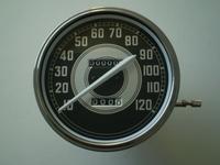 11126-40  speedometer black/silver